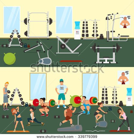 stock-vector-empty-gym-with-exercise-equipment-people-engaged-in-the-modern-gym-vector-people-pick-up-a-339779399